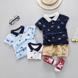 Prussian Clothing Australia - 2019 New fashion kids summer boutique clothing newborn baby boys toddler children clothes 2 pieces high quality kids infant clothing