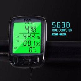 Опт 563B водонепроницаемый ЖК-дисплей Велоспорт велосипед компьютер одометр спидометр Велоспорт спидометр с зеленой ЖК-подсветкой ZZA616 60шт