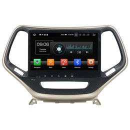 Jeep phones online shopping - Octa Core din quot Android Car DVD Player for Jeep Cherokee RDS Radio GPS WIFI Bluetooth USB GB RAM GB ROM