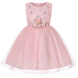 flower girl dress 14 years UK - Girls summer 2 to 14 years tutu dresses, ball grown pearls Rhinestone flower clothes, kids & teenager boutique party clothes, R1AAX808DS-10