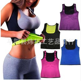 $enCountryForm.capitalKeyWord NZ - Hot Sweat Slimming Vest Body Shaper for Women, Weight Loss Tummy Belly Fat Burner Shapewear, Waist Trainer Tank Top Corset Neoprene Sauna S