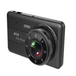 "Dvr Channel Cameras Australia - 1080P FHD car DVR drive data recorder vehicle dash camera 4"" screen 2 channels dual lens front 170° rear 120° clear night vision"