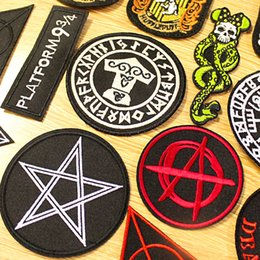 $enCountryForm.capitalKeyWord Australia - Metal Bands Punk Patches Embroidery Patches For Clothes Iron On Patches For Clothing DIY Harry Potter Badge Applique Clothing F