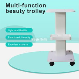 $enCountryForm.capitalKeyWord Australia - Upgraded Aluminum Alloy Moving Stand Trolley Use Pedestal Rolling Cart Wheel Aluminum Stand Beauty Tools