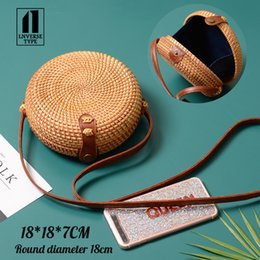 $enCountryForm.capitalKeyWord NZ - Square Round Mulit Style Straw Bag Handbags Women Summer Rattan Bag Handmade Woven Beach Circle Bohemia Handbag New Fashion 2019 Y190704