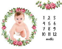 Orange phOtOgraphy online shopping - Infant Baby Milestone Blanket Photo Photography Prop Blankets unicorn Backdrop Cloth Calendar Bebe Boy Girl Photo Accessories x100cm
