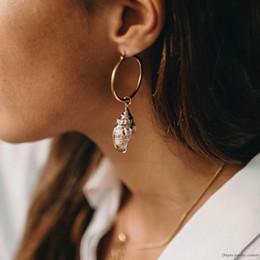 $enCountryForm.capitalKeyWord Australia - Natural Shell Ladies Earrings Pendant Earrings Korean Version Of The Geometric Shell Earrings Fashion Female Jewelry