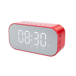 radio cards Australia - Fashion S5 Wireless Bluetooth Speakers with Clock Home Mini LED Display Digital Table Alarm Clock TF Card Slot FM Radio for Office Bedroom