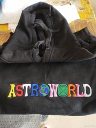 embroideries sweatshirts UK - Astroworld 2020 Embroidery Hoodies Men Hiphop Skateboard Spring Autumn Wish you wer here Sweatshirts
