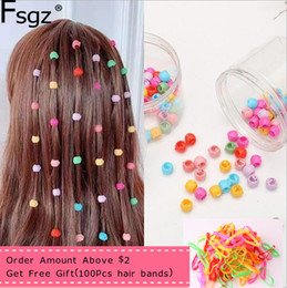 clip beads for hair Australia - 80 PCS Mini Hair Claw Clips For Women Girls Cute Candy Colors Plastic Hairpins Hair Braids Maker Beads Headwear Hair Accessories