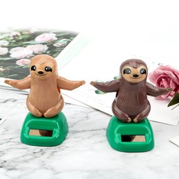 SlothS toyS online shopping - LEEPEE Auto Accessories Cute Sloth Shape Car Ornament Car Styling Dashboard Decoration Solar Powered Dancing Toy Swinging