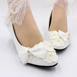 Опт 3 СМ / 5 СМ Белое Кружево Женщины Handmading Обувь Зашнуровать Обувь Женщины Насосы Сексуальная Обувь Bridmade Насосы