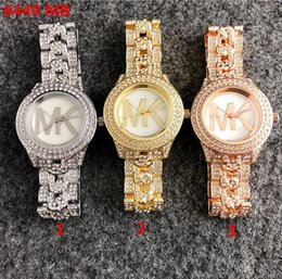 Rose golden watches online shopping - New Famous Luxury Crystal Dial Bracelet Quartz Wrist Watch Christmas Gift for Ladies Women Gold Rose Gold Silver