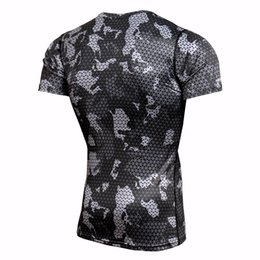 best training shirt UK - Best Selling Sport Running T-Shirt Rashgard Men Camouflage Gym Fitness Slim Training Shirts Dry Fit Sportswear Top Soccer Jerseys