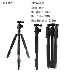 Camera Height Australia - BEXIN Camera Professional Travel Portable Aluminum Tripod Stand With Head Max Height 1420mm For DSLR Digital Camera