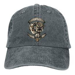5fd2f6b37cc 2019 New Wholesale Baseball Caps Print Hat High quality Marine Corps  Bulldog USMC Mens Cotton Adjustable Washed Twill Baseball Cap Hat