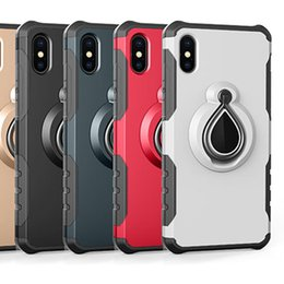 Iphone Car Suction Australia - Case for iPhone X 8 7 Plus 6 6S Plus Magnetic Suction Car Mount Holder Armor PC + TPU Case gel Shockproof Stand Hybrid Skin