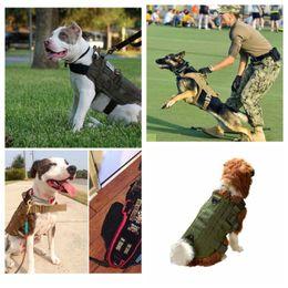 Nylon Coating Australia - Outdoor Hunting Dog Clothes Tactical Training Dog 600 Nylon Vest Packs Coat Load Bearing Hunting Vests 4 Color S-XL
