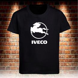 TshirT cusTom prinTing online shopping - Iveco Truck Black T Shirt Men s Tshirt S To xl High Quality Custom Printed Tops Hipster Tees T shirt