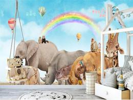 rainbow backdrop 2019 - Custom Size 3D Photo Wallpaper Mural Southeast Asia Animal Rainbow Picture Room Sofa TV Backdrop Mural Home Decor Creati