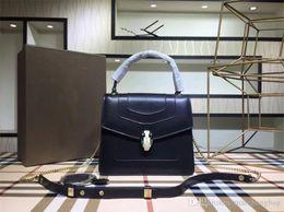 34e86172fba7 Luxury Brand Designer Crossbody Messenger Bags Handbags 2 Layer Beautiful  Snake Head Women Handbags Real Sheep Leather Chain Bag Good Metal