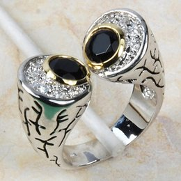 $enCountryForm.capitalKeyWord Australia - ring settings without stones Wholesale & Retail Brand New Black Onyx 925 Sterling Silver Ring Free Shipping R433 USA size 6 7