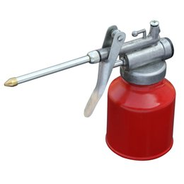 $enCountryForm.capitalKeyWord UK - 250ml Machine Oiler Pump Spray Gun Metal Oiler High Pressure Long Beak Oil Can Pot Hand Tools for Lubricating Airbrush Hot