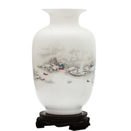 Paintings Vases Australia - Traditional Chinese Ceramic Vase Jingdezhen Painted Vases Flower Arrangement Container Tall Vase Home Accessories Crafts