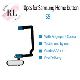 SamSung galaxy S5 partS online shopping - 10pcs Home Button keypad Flex Cable Ribbon Repair Parts For samsung galaxy S5 G900F G900A G900H With waterproof White Black