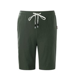 f46ca793f11 2019 Summer New Cotton Shorts Loose Mens Casual Shorts Black White Drawstring  Waist Bermuda Shorts Men Plus Size 4xl 5xl