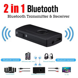 usb audio jack music NZ - 2 in 1 Bluetooth Audio Receiver & Transmitter AUX RCA 3.5MM 3.5 Jack USB Music Stereo Wireless Adapters For Car TV PC Speaker