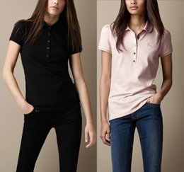 Wholesale womens polo shirts resale online – Fashion Womens Summer Polo Tshirt Classic Short Sleeve Fashion Brand Polo Shirt for Women Hot Sale Solid Color Polo Tee Color S XXL