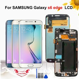 """$enCountryForm.capitalKeyWord Australia - 5.1"""" AMOLED LCD For Samsung Galaxy S6 Edge LCD G925 G925F SM-G925F Display Touch Screen Digitize Assembly With Frame +Tools"""