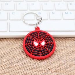 $enCountryForm.capitalKeyWord Australia - pvc Soft Rubber Doll Keychain Avengers Captain America Shield Double sided Spider Man Iron Man Superman Car Keychain