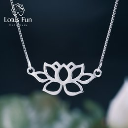 $enCountryForm.capitalKeyWord Australia - Lotus Fun Real 925 Sterling Silver Handmade Fine Jewelry Hollow Out Lotus Necklace With Pendant Acessorios For Women Collier J190613