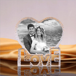 $enCountryForm.capitalKeyWord Australia - Xintou 3d Laser Engraved Personalized Photo Crystal Frame Custom Etched Picture Glass Heart Iceberg Wedding Birthday Gift J190716