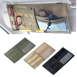 Sun Visor Organizers Australia - Tactical MOLLE Vehicle Visor Panel Truck Car Sun Visor Organizer CD Bag Holder Pouch Auto Accessories #42501