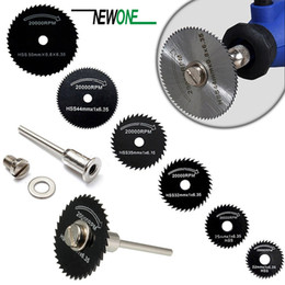 dremel saw Canada - heap Power Tool Accessories 6 Saw Blade +1pc Pole Hss High-speed-steel Circular Rotary Blade Wheel Discs Mandrel For Metal Dremel Tools W...