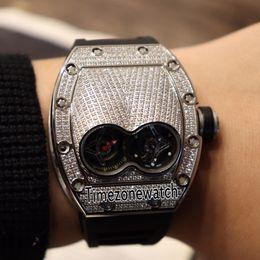 Black Diamonds For Cheap Australia - Best Edition 053 Pablo Mac Dono 45mm Alien Capsule Steel Case Diamond Bezel Swiss Quartz Mens Watch Black Rubber Cheap For Timezonewatch E09