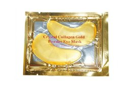 Nails Mask UK - Hot sale Crystal Collagen Gold Powder Eye Mask Golden Mask stick to dark circles DHL free ship