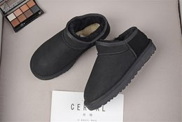$enCountryForm.capitalKeyWord Australia - HOT SALE New Fashion classic low winter Snow boots real leather Bailey Bowknot women's bailey bow snow boots men sports outdoor sneaker 10