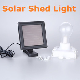 solar sheds NZ - Solar LED Bulb Light With Pull Cord and Lamp base Solar Indoor Shed Light Wall Mounted Interior Lamp for Garden Patio Home