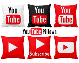 movie pillow cases NZ - 2 Sides Handmade Youtube Square PillowCase You tube pillowcase Play Movie Video Music Subscribe Gift Pillow Case