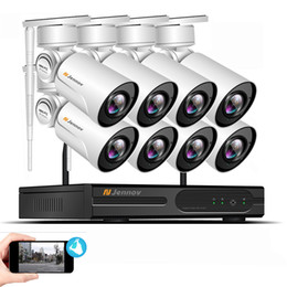 Onvif Camera Wifi Ptz Australia - 8CH 1080P PTZ Wifi CCTV Security Camera System Onvif Video Surveillance Kit Aduio Home Wireless NVR Kit 2MP 4XZoom 2.8mm-12mm
