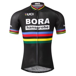 Wholesale BORA team Cycling Short Sleeves jersey New Men Bike Clothing Breathable Quick Dry Wearable free delivery
