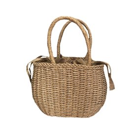 fashion bags summer for woman UK - Vintage Straw Bag Tote Bag For Women Fashion Hollow Out Basket Handbag Summer Beach Casual Bags New in 2019 Japanese Style