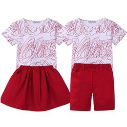 $enCountryForm.capitalKeyWord UK - Big Sister Outfits Brother Sets Family Look family matching clothes Summer Print T-shirt+Skirt short kids Baby clothing