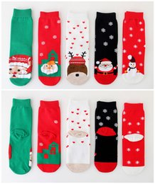 christmas socks for men Australia - Christmas Straight stockings Cartoon Reindeer Snowman Santa socks For women men Xmas socks Christmas Decorations