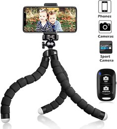 Discount phone tripod holder Flexible Tripod Phone Holder Selfie Stick Camera Tripod Universal Stand portable Tripod Bracket For Cellphone Camera Sel