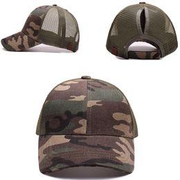 72e4e53f7da Summer Mesh Sun Hats Ponytail Hats Amy Green Bun Snapback Caps Hip Pop  Camouflage Mesh Caps casquette gorras para hombre